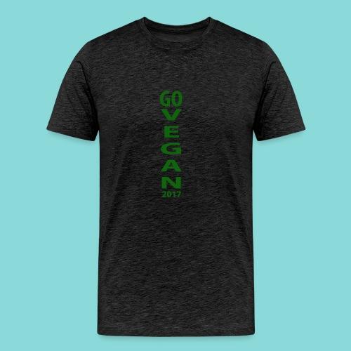 Go_Vegan_2017 - Men's Premium T-Shirt