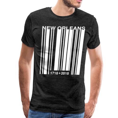 New Orleans Tricentennial Barcode Fleur de Lis (W) - Men's Premium T-Shirt