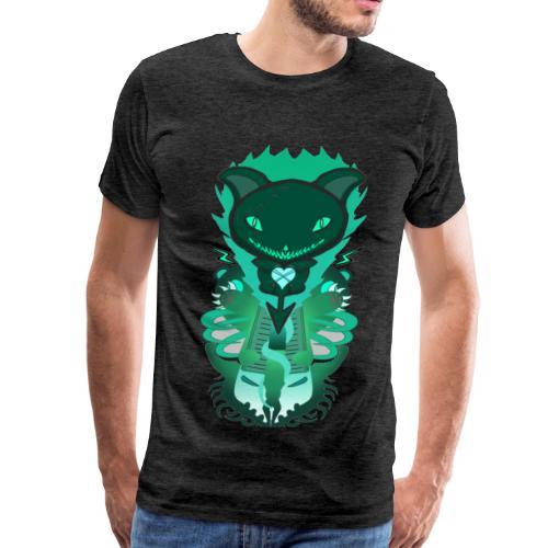CUTE MONSTER CAT DESIGN SHIRT - Men's Premium T-Shirt