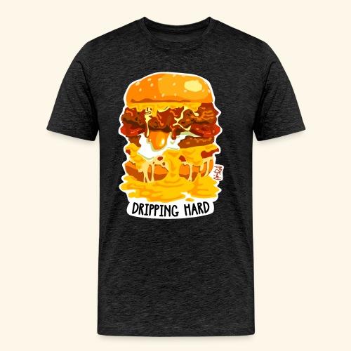 Dripping Hard Cheeseburger - Men's Premium T-Shirt
