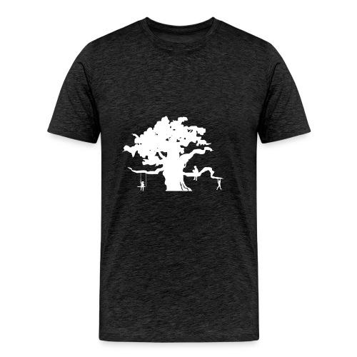 WD icon white - Men's Premium T-Shirt