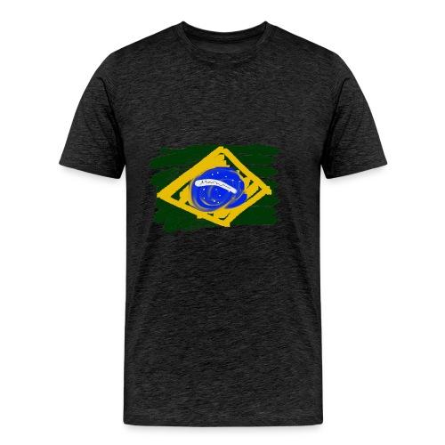 Brazilian Flag - Men's Premium T-Shirt