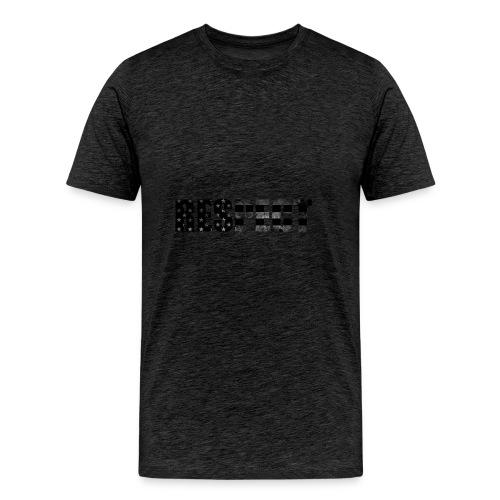 Respect Black and White flag - Men's Premium T-Shirt