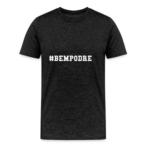 Bem Podre bold branco - Men's Premium T-Shirt