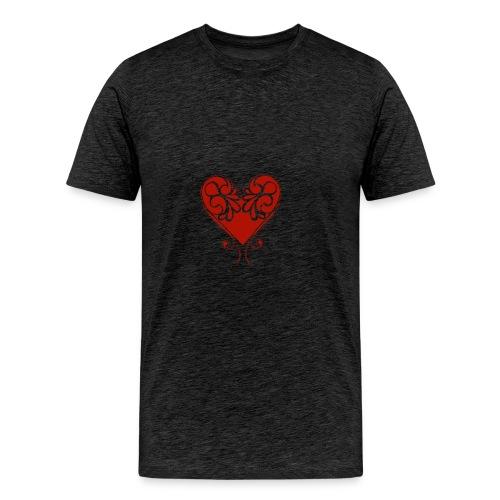 A Splash of Love Heart Design Baby One Piece - Men's Premium T-Shirt