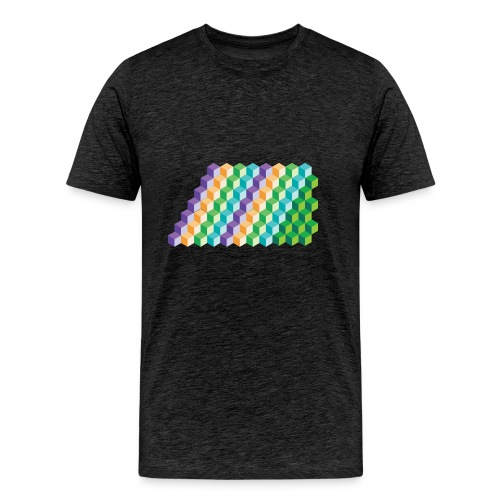 Cool Cubes Pattern - Men's Premium T-Shirt