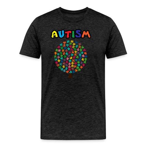 Autism Awareness Puzzle Tree - Men's Premium T-Shirt