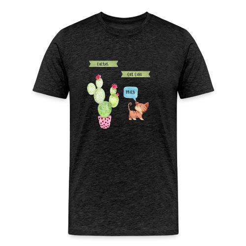 Cactus-Cat Cuss - Men's Premium T-Shirt