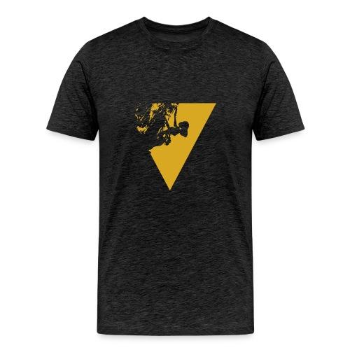 female climber yellow - Men's Premium T-Shirt
