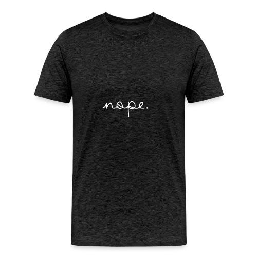 Nope Letterman Jacket - Men's Premium T-Shirt