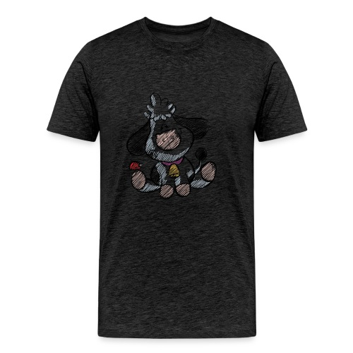 cow funny love animals and pets - Men's Premium T-Shirt