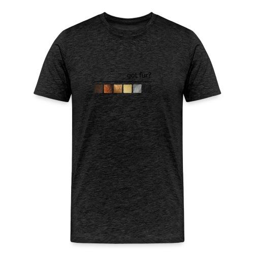 got fur?-Furry Fun-Bear Pride Flag - Men's Premium T-Shirt