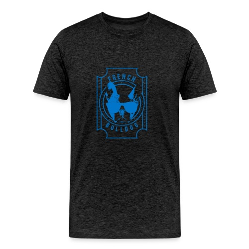 French Bulldog Blue - Men's Premium T-Shirt