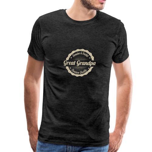 Grandfather Great Grandpa Genuine and Trusted - Men's Premium T-Shirt