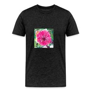 Pink Zinnia Watercolor - Men's Premium T-Shirt