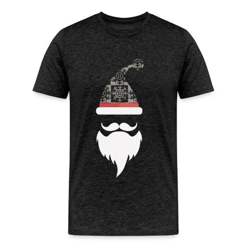 Santa hats, moustache and beards. Christmas Men - Men's Premium T-Shirt