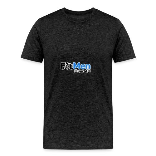 Fit Men Over 40 V-Neck Short Sleeve Shirt - Men's Premium T-Shirt