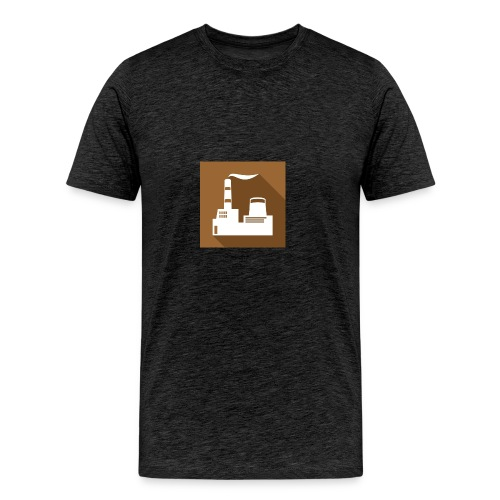 flat factory vector - Men's Premium T-Shirt