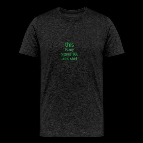 this is my game shirt - Men's Premium T-Shirt