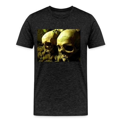 Skull design realistic 2 - Men's Premium T-Shirt