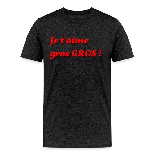 je t aime gros - Men's Premium T-Shirt