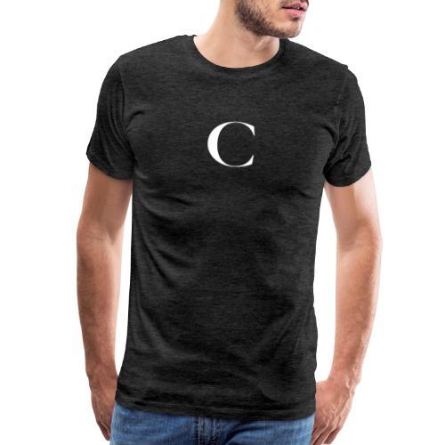 Large Cliche Magazine White C Logo - Men's Premium T-Shirt