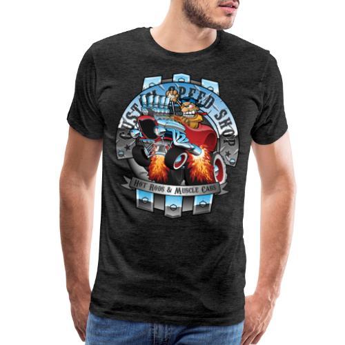 Custom Speed Shop Hot Rods and Muscle Cars Illustr - Men's Premium T-Shirt