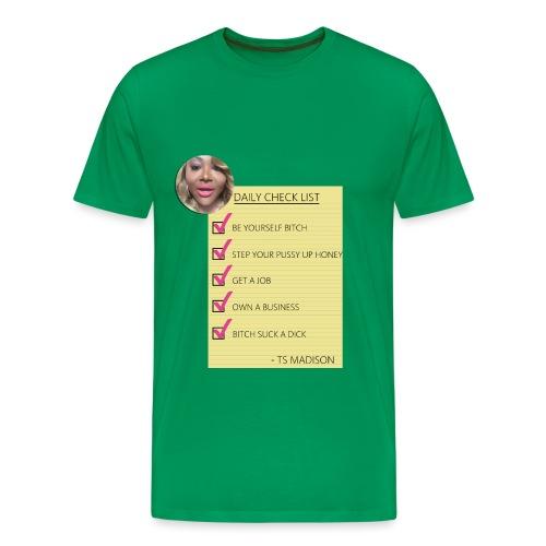 ts Madison Checklist - Men's Premium T-Shirt
