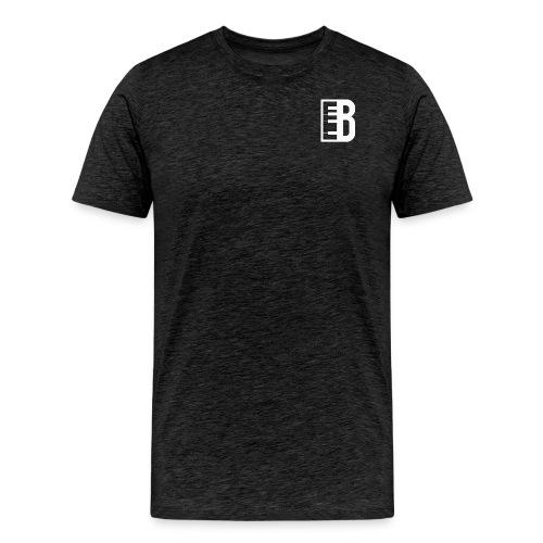 Blute Logo (White) - Men's Premium T-Shirt