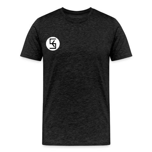 WhiteBlack Soft Kore Logo - Men's Premium T-Shirt