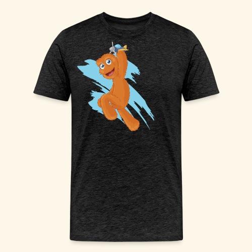 Fuzzy Puppet logo - Men's Premium T-Shirt