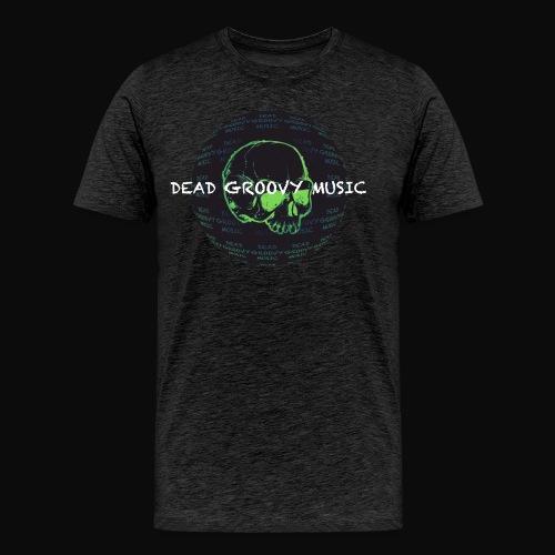 Dead Groovy Music - Detail Logo/Name - Colour - Men's Premium T-Shirt
