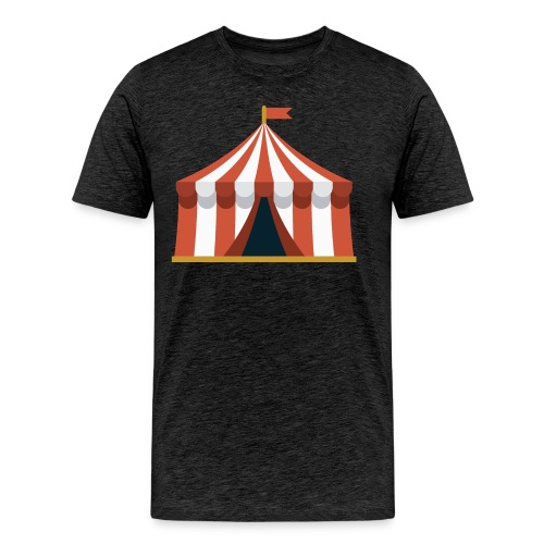 Striped Circus Tent - Men's Premium T-Shirt