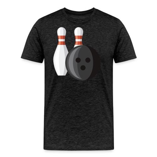 Bowling Ball and Pins - Men's Premium T-Shirt