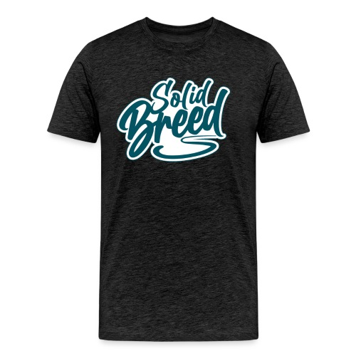 Solid Breed Contemporary Teal Logo - Men's Premium T-Shirt