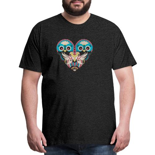 Cool Couple Heart Design Artistic Shirt - Men's Premium T-Shirt