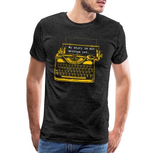Yellow Typewriter - Men's Premium T-Shirt