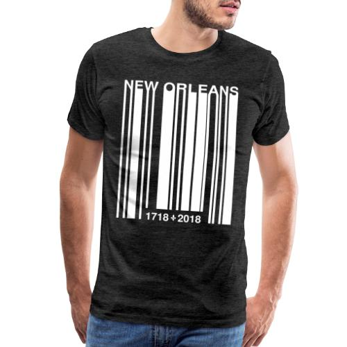 Vector New Orleans Tricentennial Barcode White - Men's Premium T-Shirt