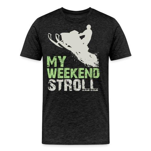 Snowmobile Weekend Stroll - Men's Premium T-Shirt