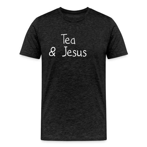 Tea and Jesus - Men's Premium T-Shirt