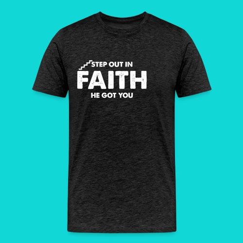 Step Out In Faith - Men's Premium T-Shirt