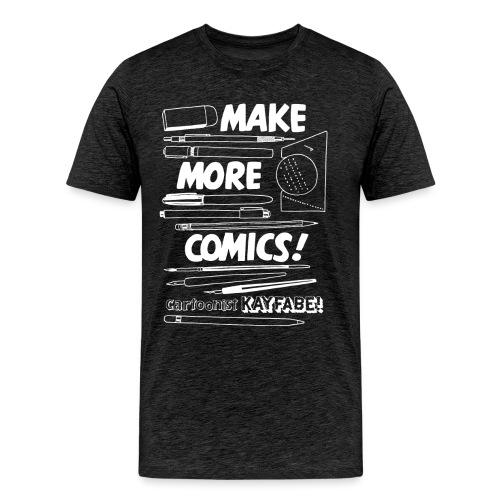 Make More Comics! (white ink) - Men's Premium T-Shirt