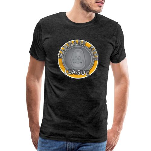 Logo Wannabe Beer League - Men's Premium T-Shirt