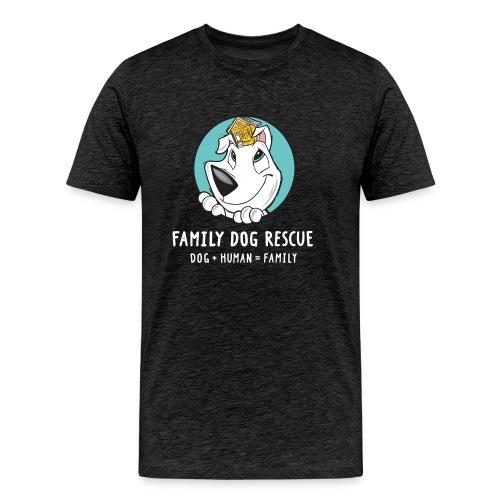 fdr logo (white tagline) - Men's Premium T-Shirt