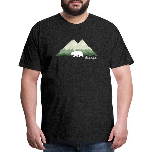 Alaskan Mountain and Bear - Men's Premium T-Shirt