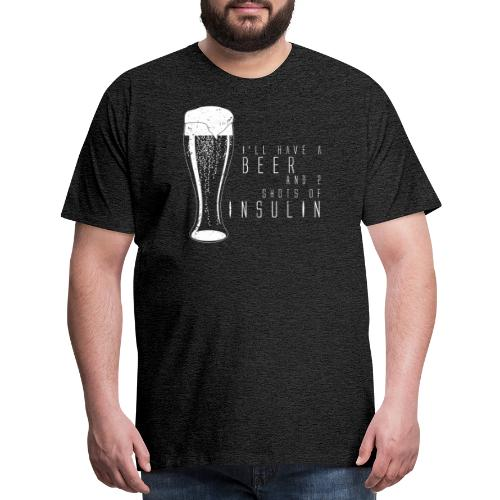 Beer and 2 Shots - Men's Premium T-Shirt