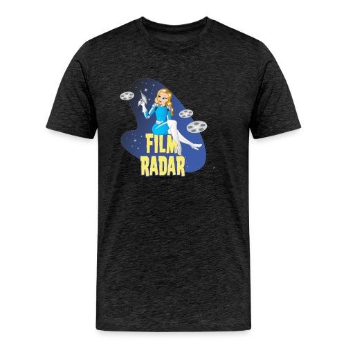 Film Radar space girl logo (blue) - Men's Premium T-Shirt