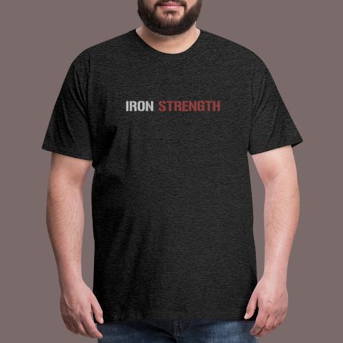 Grey Red IRON STRENGTH - Men's Premium T-Shirt