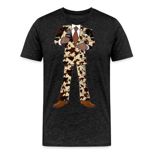 The Classic Cow Suit - Men's Premium T-Shirt