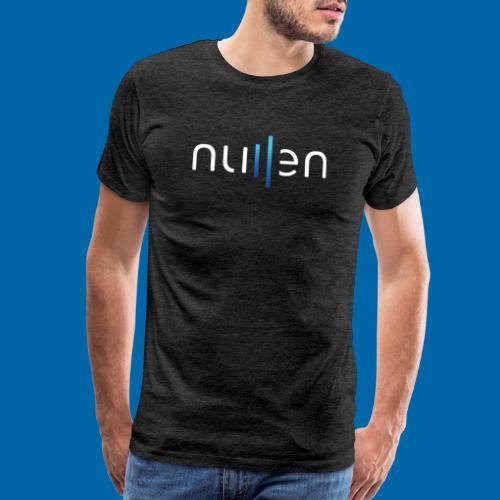 White + Blue Gradient Logo - Men's Premium T-Shirt